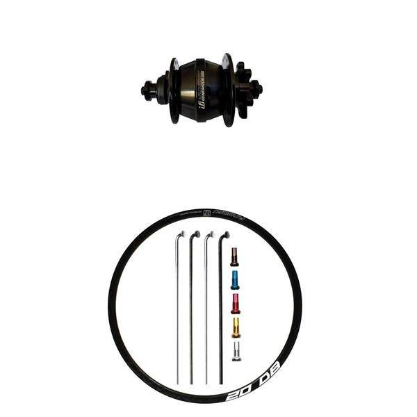 Fun Works Generator 3Way Nabendynamo Disc IS Custom Vorderrad Rennrad disc 700c