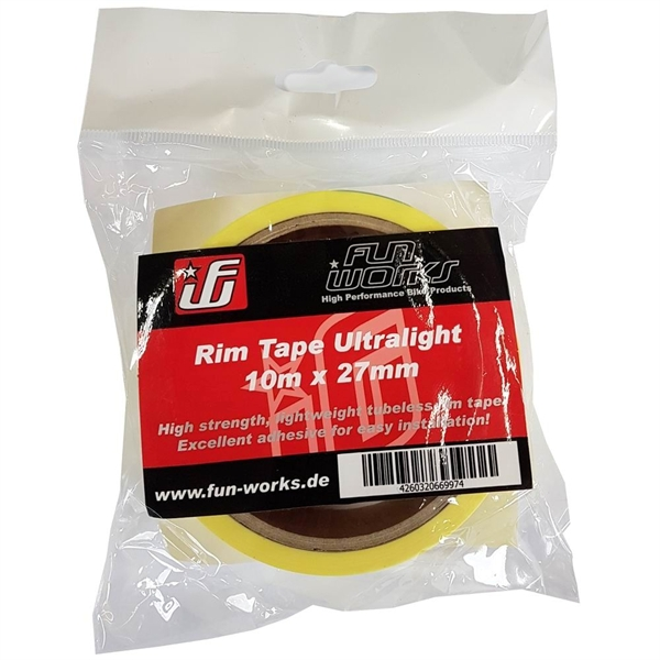 Fun Works Tubeless Felgenband Ultralight 10mX27mm